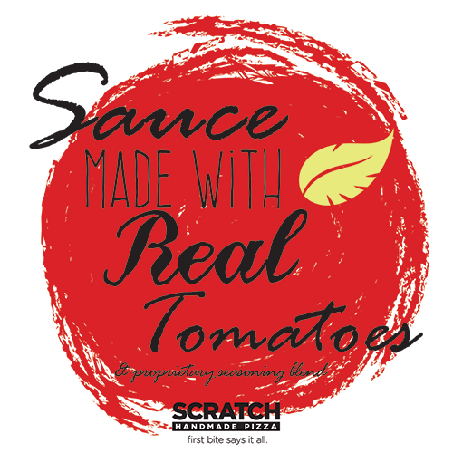 Sauce Made with Real Tomatoes Only at Scratch Pizza