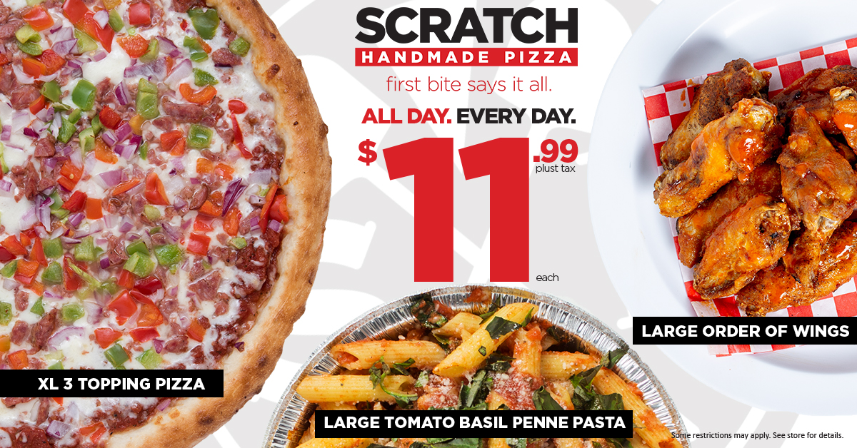 Scratch Pizza $11.99 Menu Items