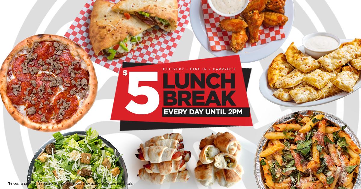 Scratch Pizza Five Dollar Lunch Break