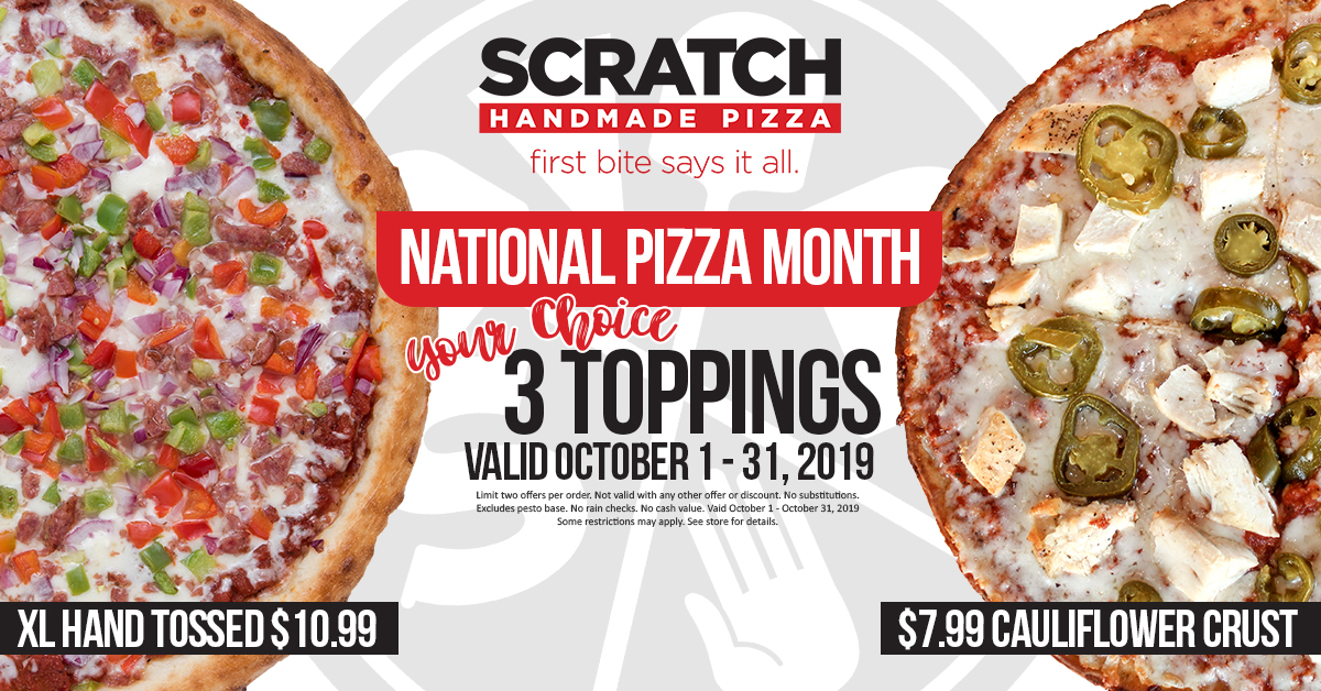 Scratch Handmade Pizza Delivery In Norco Riverside