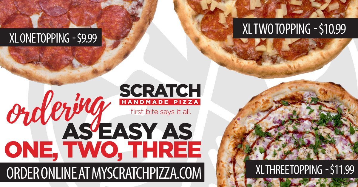 Scratch Pizza - Ordering is as easy as 1,2,3